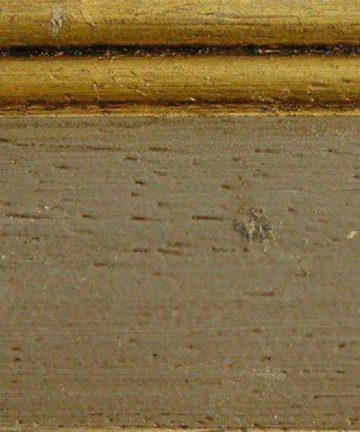 Tortora anticato bordura foglia oro