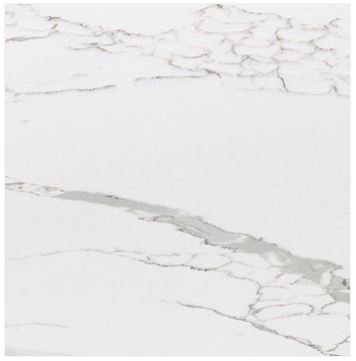 Vetro acidato retro decorato marmo bianco