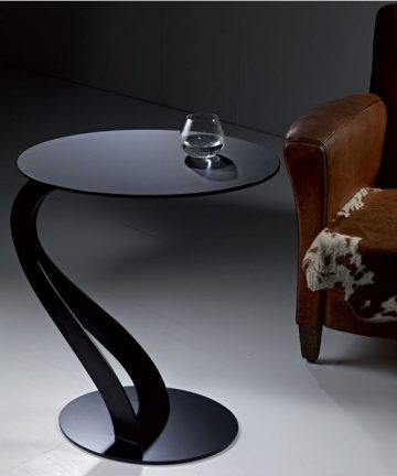 Wave tavolino rotondo nero