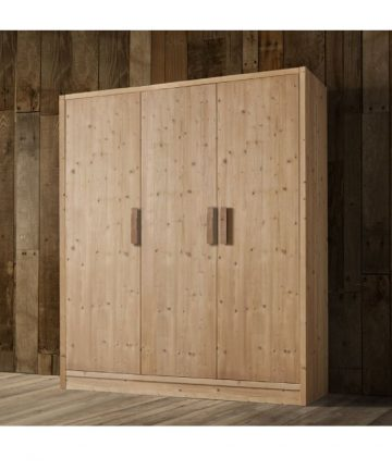 Cervino armadio 3 ante in legno