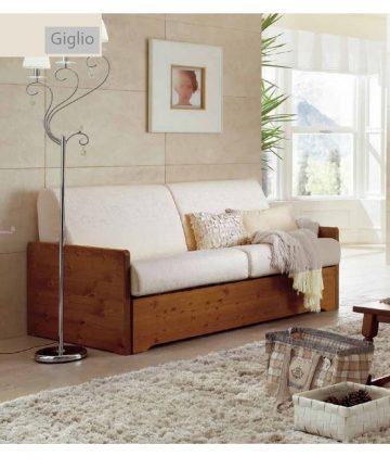 Giglio divano letto in legno