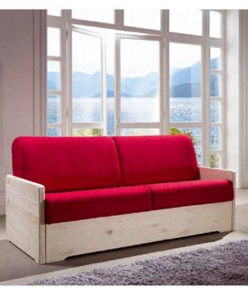 Giglio divano letto rosso