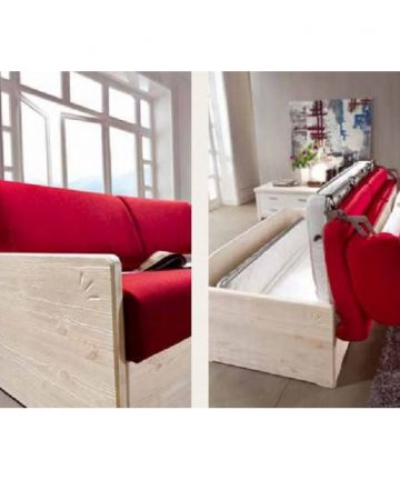 Giglio divano letto rosso zoom apertura