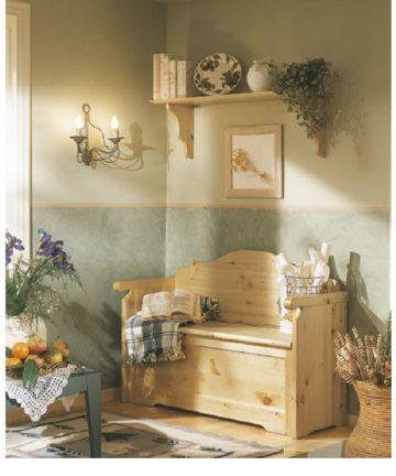 Giulietta cassapanca in legno country