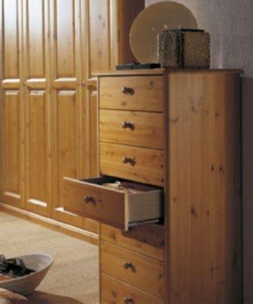 Ortensia cassettiera in legno aperta