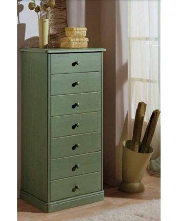Ortensia cassettiera in legno verde