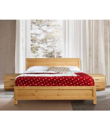 Stella Alpina letto con comodini in legno