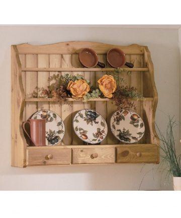 Violetta piattaia in legno con 3 cassetti