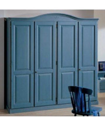 armadio 4 ante azzurro