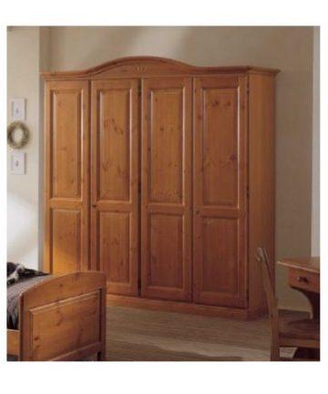 armadio in legno 4 ante