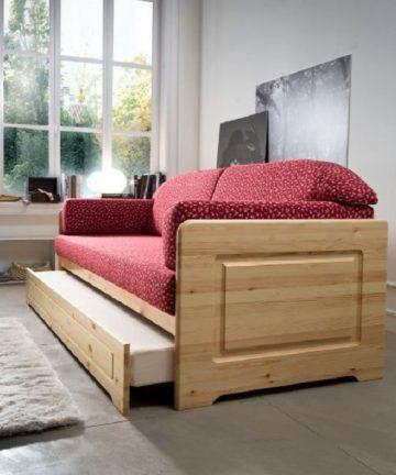 dalia fianco divano letto in legno